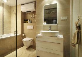 现代光面浴室柜实景