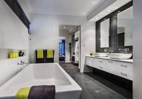 现代清透浴室柜设计
