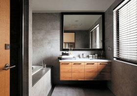 混搭原木浴室柜设计
