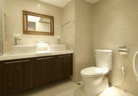 现代木纹浴室柜实景