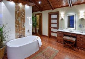 美式仿旧浴室柜实景