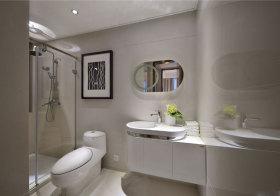 现代椭圆浴室柜造型