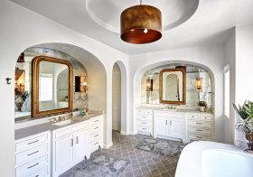 地中海拱形浴室柜造型