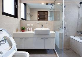 现代台面浴室柜实景