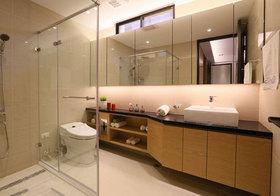 现代弯折浴室柜实景