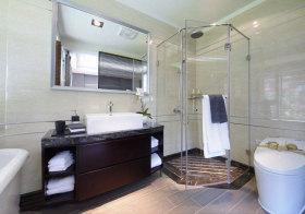 东南亚大气浴室柜设计