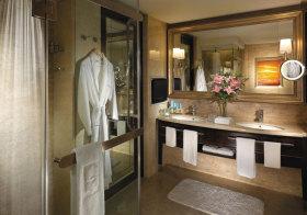 欧式褐色浴室柜效果图