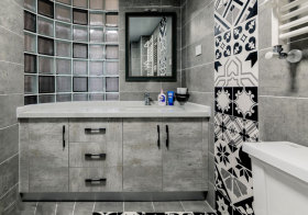 现代几何浴室柜造型