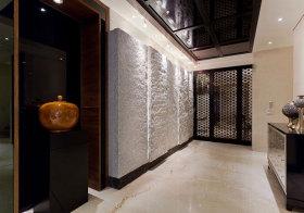 新中式石头过道设计