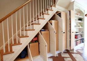 美式楼梯收纳实景