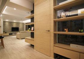 现代木质收纳细节