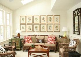 中式藤椅照片墙美图鉴赏