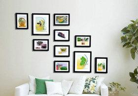 现代简洁照片墙细节