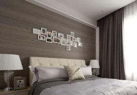 简欧卧室照片墙实景