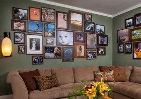 美式复古照片墙实景