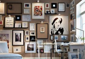 现代创意照片墙细节