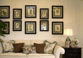 美式黑框照片墙细节