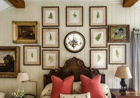 美式森林照片墙细节