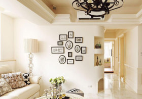 欧式洁白照片墙欣赏