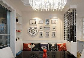 现代白框照片墙设计