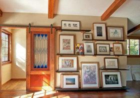 混搭木质照片墙美图
