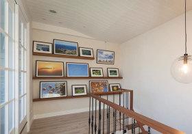 北欧原木照片墙欣赏