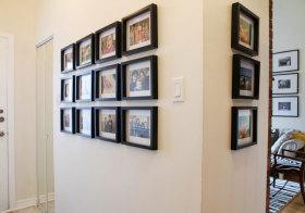 美式复古照片墙细节