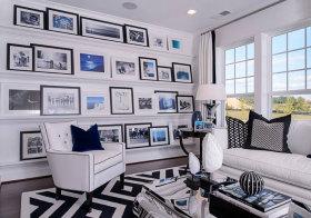 欧式白色照片墙欣赏
