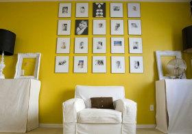 欧式黄色照片墙设计