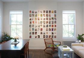 混搭淡雅照片墙欣赏