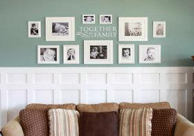 美式照片墙细节欣赏