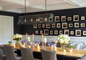混搭烛光照片墙欣赏