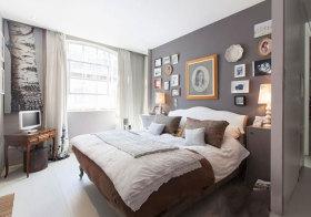 美式床头照片墙美图