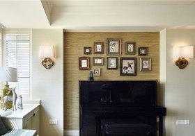 美式钢琴照片墙欣赏