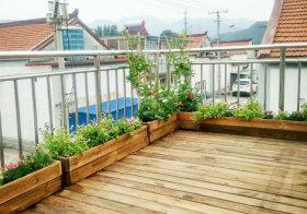 中式木质花园细节