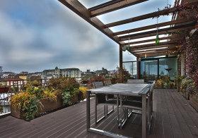 欧式露台花园设计