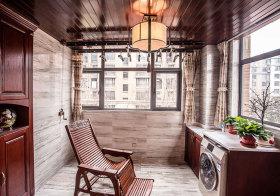 新中式藤椅阳台欣赏