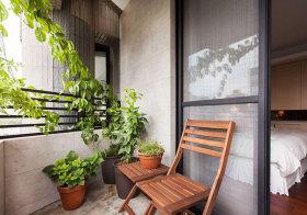 混搭植物阳台细节
