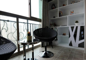 现代柜子阳台设计