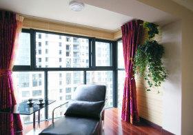 现代窗帘阳台实景