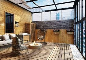 混搭木质阳台美图