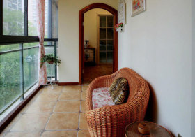 地中海藤椅阳台实景