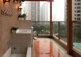 现代瓷砖阳台设计