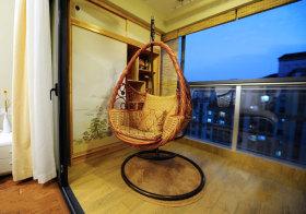 日系摇椅阳台美图
