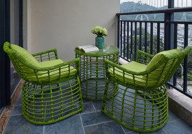 混搭绿色阳台美图