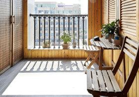 简约木质阳台欣赏