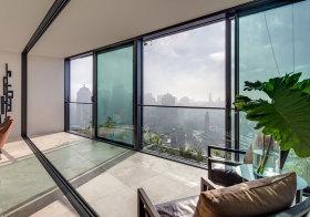现代落地窗阳台设计
