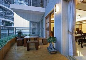 中式露天阳台设计