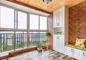 美式原木色阳台欣赏