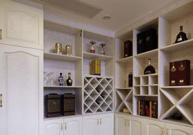 美式象牙木酒柜细节